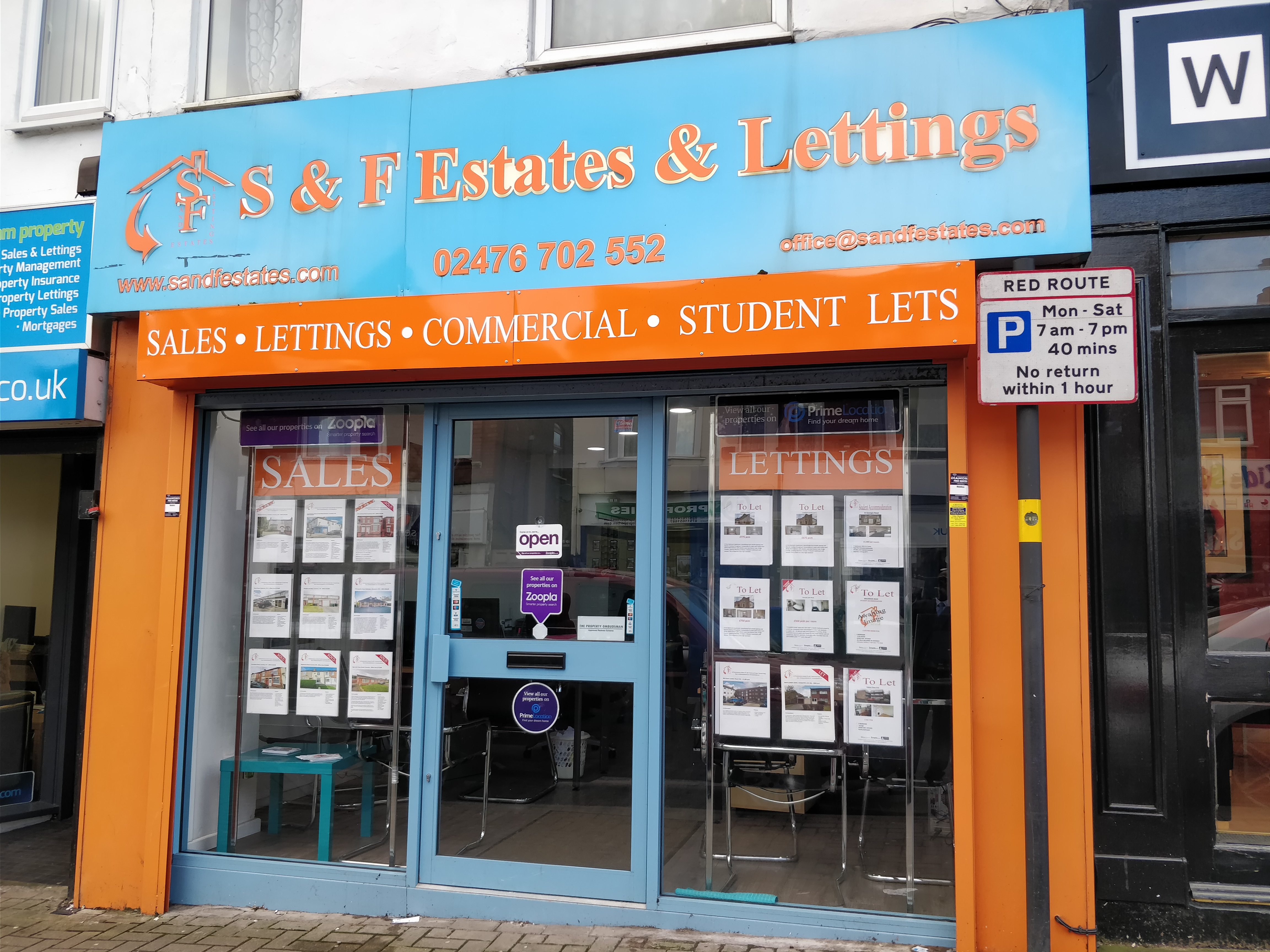 Welcome to S & F Estates and Lettings